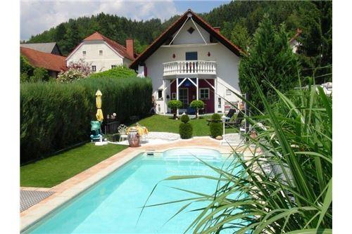 Blick Pool - Haus