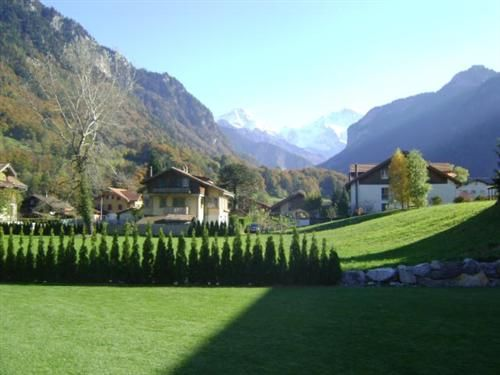 Garten mit Bergsicht