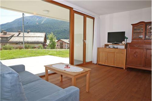 Wohnraum mit Zugang zur Terrasse mit Gartenanteile