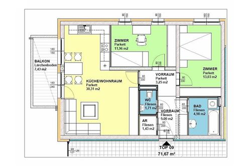 Apartamento   Arrendamento   Graz 8036, Steiermark   Plan Top 9   232227
