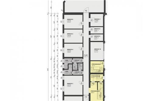Grundrissplan Büro/ Labor