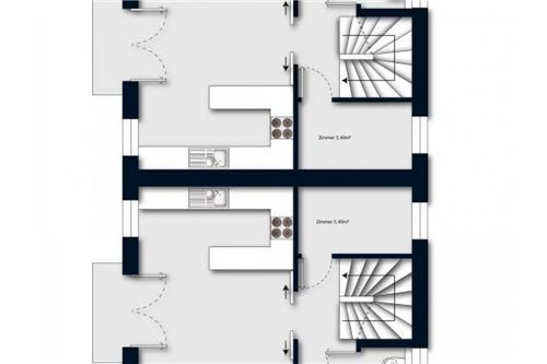 Doppelhaus 1 OG mit Flächen