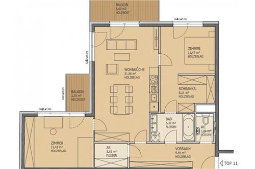 04. Plan_Top11 1150 Balkonwohnung