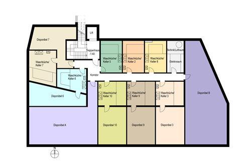 2. Untergeschoss - Haus Madrisa