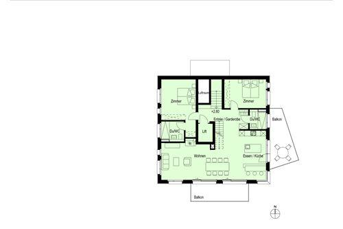 6½-Zimmerwohnung Nr. 2 (Maisonette) - Haus Dorfblick