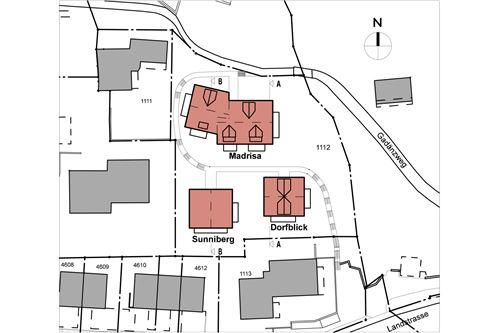 Situationsplan Überauung Madrisa Sunna