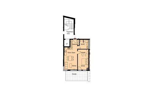 2½-Zimmerwohnung Nr. 2, EG - Haus Madrisa
