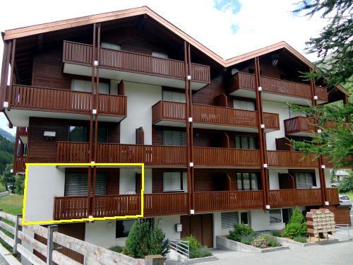 Ansicht Süd (Wohnung gelb markiert)