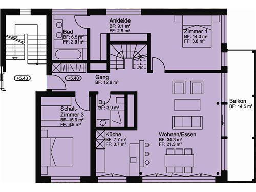 Wohnung Nr. 6 OST / 2. OG