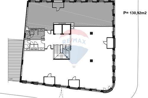Poslovni prostor za trgovinu - Za najam - Beograd  - Osnova podeljenog sprata - 500021006-100