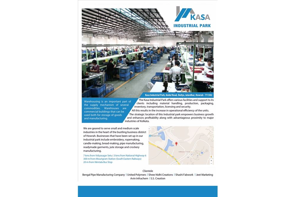 Warehouse For Rent/Lease, located at Kasa Industrial Park - Howrah, India    India