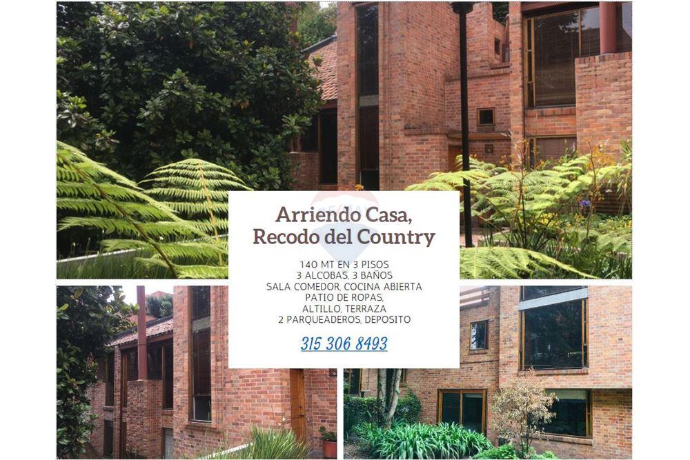 137 Sqm Townhouse For Rent To Let 3 Bedrooms Located At Calle 131a 9a 35 Casa 5 Recodo Del Country Bogotá Usaquén Colombia