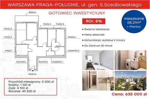 Investment - For Sale - Warszawa, Poland - 1 - 810131019-3